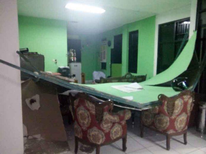 Kondisi Ruangan Kasi Pemberdayaan Yang Terkena Angin Puting Beliung