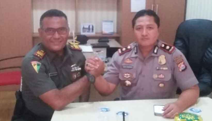 Foto : Kompol Didid Imawan SIK Dan Kapten Cpm Djalaluddin Putra
